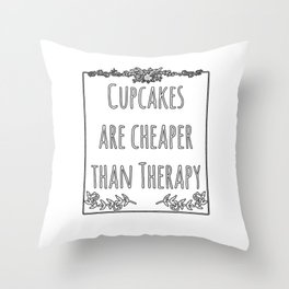 Cupcake Therapy Muffin Sprinkles Topping Sweet Cake Throw Pillow