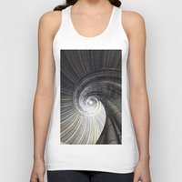 sand Tank Tops featuring Sand stone spiral staircase by Falko Follert Art-FF77