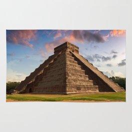The Feather Serpent - Equinox in Kukulkan Pyramid, Chichen Itza Rug