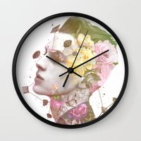 charlie Wall Clocks featuring Charlie by Krister Selin