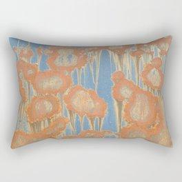 Rusty Blossoms Rectangular Pillow