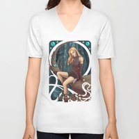 leah flores V-neck T-shirts featuring Leah by Tiphs