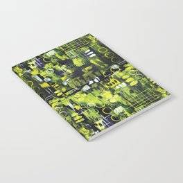 Northern Lights Abstract Painting Notebook