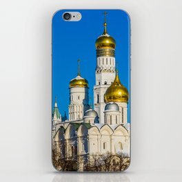 Moscow Kremlin cathedrals iPhone Skin