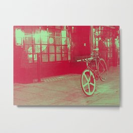 Old Vintage Bike, West end Backstage London  Metal Print