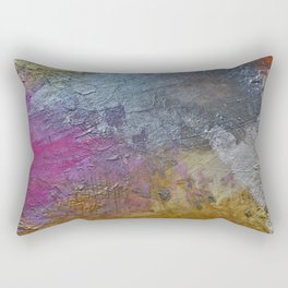 Gold Silver Rose Gold Pink Abstract Painting Rectangular Pillow