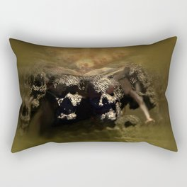 Warrior mind control fantasy magic illustration Rectangular Pillow