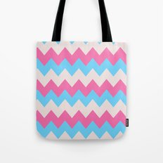 Cotton Candy Chevron Tote Bag