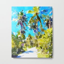 Find Your Way Back To The Beach Metal Print
