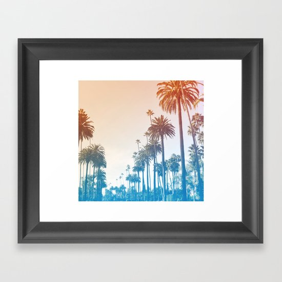 Summer in LA Framed Art Print