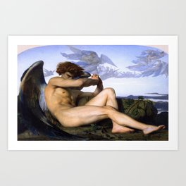 Fallen Angel by Alexandre Cabanel Art Print