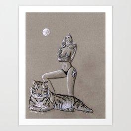 Empowered - Modern Goddess Portrait Art Print