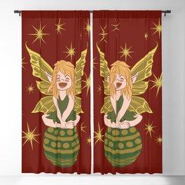 Green elf Blackout Curtain