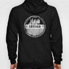 Chicago Illinois Grunge Skyline Gift Hoody