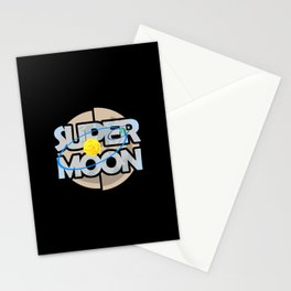 Super Moon Diagram Stationery Cards