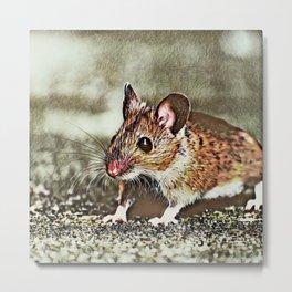 Toony Mouse Metal Print