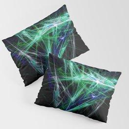 Green light beam Pillow Sham