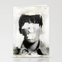 dead Stationery Cards featuring Faceless | number 02 by FAMOUS WHEN DEAD