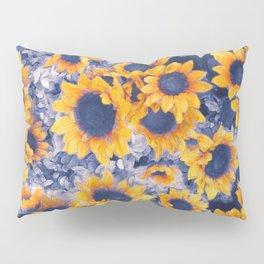 Sunflowers Blue Pillow Sham
