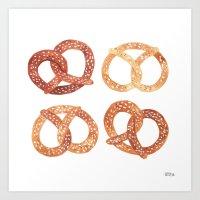 oana befort Art Prints featuring PRETZELS by Oana Befort