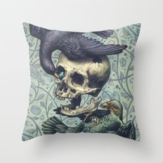 Bowerbirds Throw Pillow