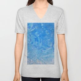 blue lagoon cocktail Unisex V-Neck