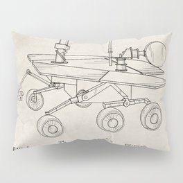 Nasa Mars Rover Patent - Mars Exploration Rover Art - Antique Pillow Sham