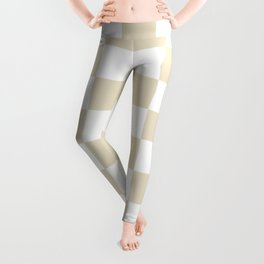 Checkered - White and Pearl Brown Leggings