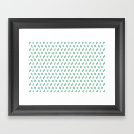 rhombus bomb in grayed jade Framed Art Print