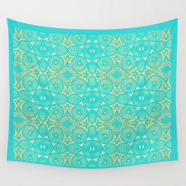 aquagold flower power 3 Wall Tapestry