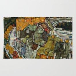 "Egon Schiele ""Crescent of Houses II (Island Town)"" Rug"