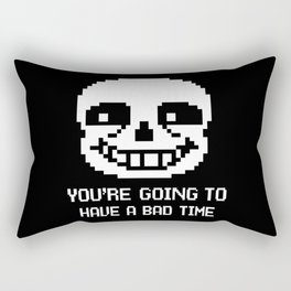 Sans bad time Rectangular Pillow