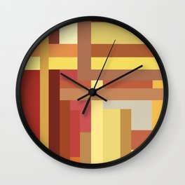 Marigold Stripes Wall Clock