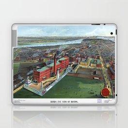 BOSTON MASSACHUSETTS city old map Laptop & iPad Skin