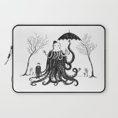 Young Master Lovecraft Finds A Friend Laptop Sleeve