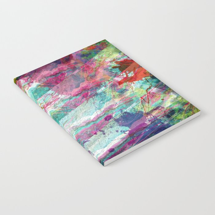 Bright Color Splash Abstract Notebook