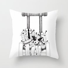 Love (one hand to caress and the other one to hurt) Throw Pillow