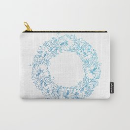 Floral Circle Carry-All Pouch