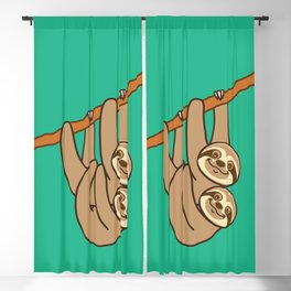 Cute Sloths!! Blackout Curtain