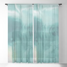 A Tranquil Dream No.1t by Kathy Morton Stanion Sheer Curtain