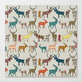 patterned deer stone Canvas Print