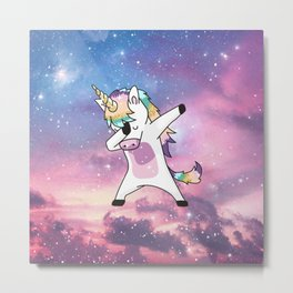 Cute Unicorn Metal Print