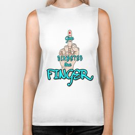GIVE DIABETES THE FINGER! Biker Tank