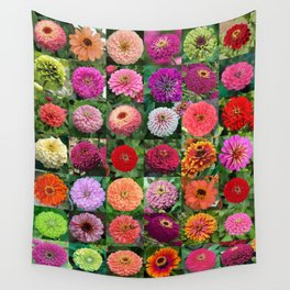 Zinnia Montage Wall Tapestry