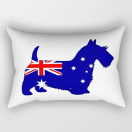 Australian Flag - Scottish Terrier Rectangular Pillow