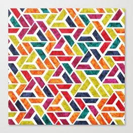 Seamless Colorful Geometric Pattern XII Canvas Print