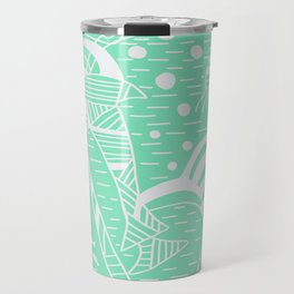 Carnival Glass Sea Life Stripes Travel Mug