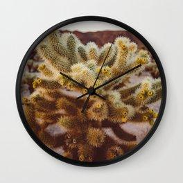 Cholla Cactus Garden XIV Wall Clock