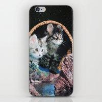 kitty iPhone & iPod Skins featuring Kitty by John Turck