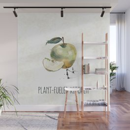 Plant-Fueled Kitchen Apple Wall Mural